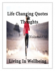 Life Changing Quotes & Thoughts (Volume 170) (eBook)