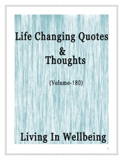 Life Changing Quotes & Thoughts (Volume 180) (eBook)