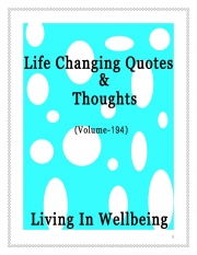 Life Changing Quotes & Thoughts (Volume 194) (eBook)