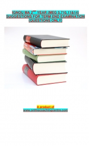 IGNOU MEG SECOND YEAR SUGGESTIONS (eBook)