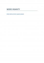 Word Insanity (eBook)