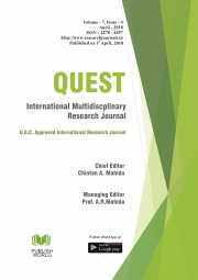 Quest International Research Journal (April - 2018)