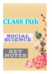 Class 9th SST (KEY NOTES) (eBook)