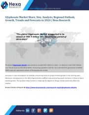 Glyphosate Market Share, Application Analysis and Forecasts, 2016 to 2024 (eBook)