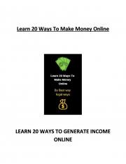 Best Legit Ways To Make Money Online (eBook)