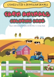Coloring Books for 2 Year Olds (Farm Animals coloring book for 2-4 year olds)