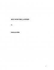 Boy with the Lantern (eBook)