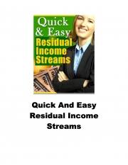 Residual income streams (eBook)