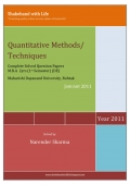 Solved Paper Quantitative Techniques/Methods January 2011