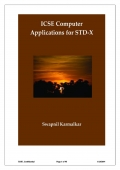 ICSE Computer Applications for STD X