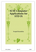 ICSE Computer Applications for STD IX