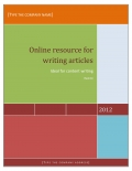 resource for online writers