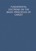 FUNDAMENTAL DOCTRINE ON THE PRINCIPLES OF CHRIST