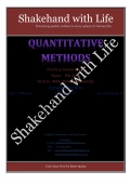 Solved Paper Quantitative Techniques/Methods  Feb. 2012