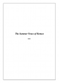 The Summer Vows of Romeo