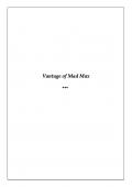Vantage of Mad Max