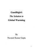 Gandhigiri: The Solution to Global Warming