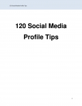 120 Social Media Profile Tips