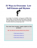 51 ways to overcome Low Self-Esteem and Shyness