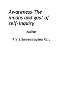 Awareness-The means and goal of self-inquiry