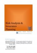 Risk Analysis & Insurance Planning