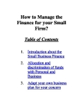 Finance Management for Small Firms