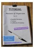 Standard Deviation, Variance, Coefficient of Variation (eBook)