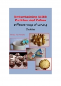 Entertaining With Cookies and Cakes: Different Ways of Serving Cookies (e-book)