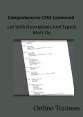 Comprehensive CSS3 Command List With Descriptions And Typical Mark Up