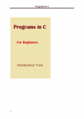 Programs in C (eBook)