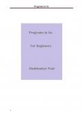 Programs in Go (eBook)