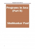 Programs in Java (Part II)