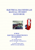 ELECTRICAL MACHINES LAB MANUAL/STUDENT HAND BOOK