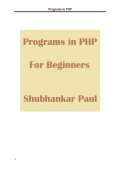 Programs in PHP
