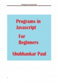 Programs in Javascript