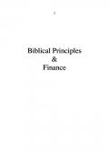 Biblical Principles & Finance
