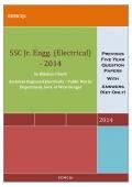 SSC JUNIOR ENGINEER (Electrical) - 2014