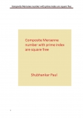 Composite Mersenne number with prime index are square free (eBook)