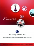 Jain College of MCA and MBA Recent trends in Management (ENCRTM 14)