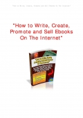 CREATE YOUR EBOOK AND SELL IT EFFECTIVELY