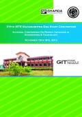 XVIth ISTE Maharashtra Goa Staff Convention   National Conference on Recent Advances in Engineering & Technology [Proceedings]   November 15th-16th, 2013