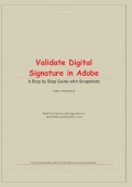 Validate Digital Signature in Adobe - Colour Paper Book