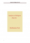 Analysis of Religion (Part II) (eBook)