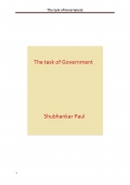 The task of Government