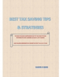 BEST TAX SAVING TIPS & STRATEGIES