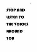 Stop and listen to the voices around you (eBook)
