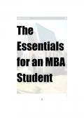 The Essentials for an MBA Student CHAPTER 1
