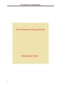 The demand to bid gratitude