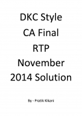 DKC Style CA Final RTP November 2014 Solution