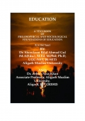 A TEXT-BOOK OF PHILOSOPHICAL AND SOCIOLOGICAL FOUNDATIONS OF EDUCATION
